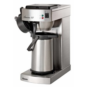 Bartscher Coffee Aurora 22 | Chrome nickel steel | Contents 2 Liter | 2kW | 215x405x (H) 520mm