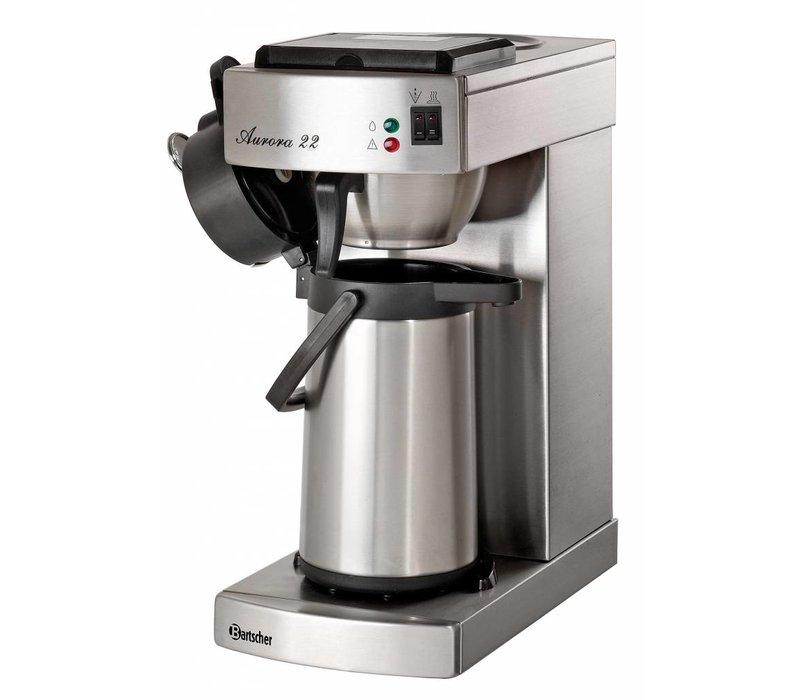 Bartscher Coffee Aurora 22 | Chromnickelstahl | Inhalt 2 Liter | 2kW | 215x405x (H) 520mm