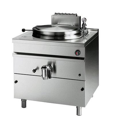 Bartscher Gas Indirekte Kochkessel Heizung - 150L - 900x900x (h) 900mm - 21KW