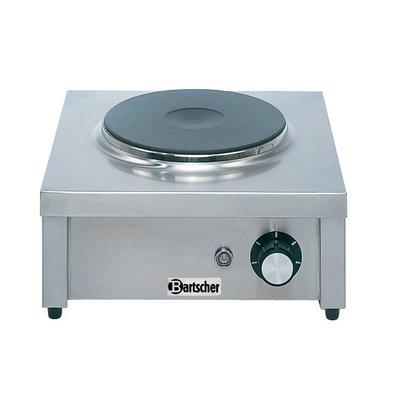 Bartscher Kooktoestel | 1 Kookplaat | 2 kw | 350x350x(H)150 mm