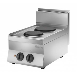 Bartscher Cooker with 2 Electric Cooking | 4.1 kw | 400x650x (H) 295 mm