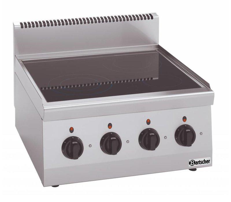 Bartscher Keramisch Kooktoestel | Met 4 Zones | Serie 600 | 8 kw | 600x600x(H)290 mm