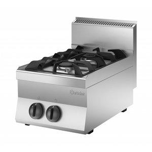Bartscher 2-burner gas cooker   9KW   400x650x (H) 295mm   Propane / Natural Gas