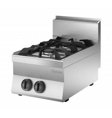 Bartscher 2-burner gas cooker | 9KW | 400x650x (H) 295mm | Propane / Natural Gas