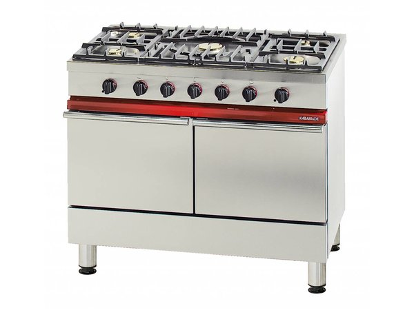 Bartscher Gas Stove + 2 gas ovens Series Embassy | 1000x650x (H) 900mm