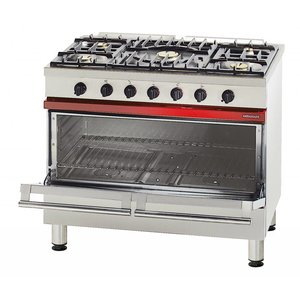 Bartscher Gasfornuis 5 Pits + 1 grote Elekrische Oven + Grill | 400V | 1000x650x(H)900 mm