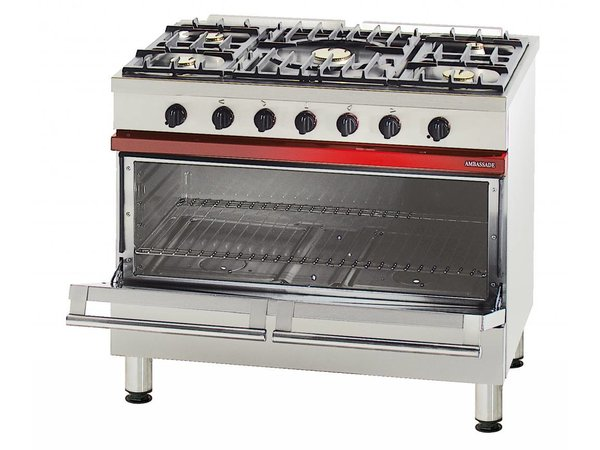 Bartscher Stovetop Pits 5 + 1 big electrical in nature Oven + Grill | 400V | 16,5kW | 1000x650x (H) 900mm