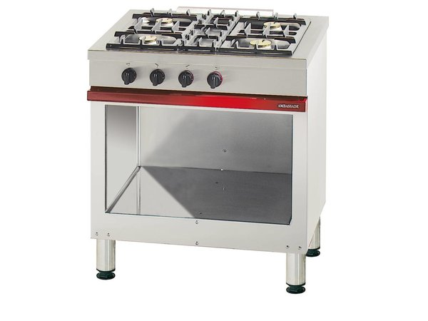 Bartscher 4-burner stove with open base Embassy Series