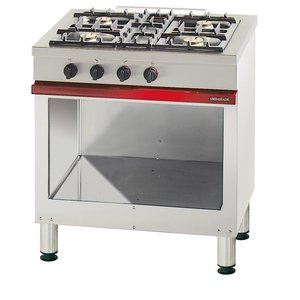 Bartscher 4-burner stove with open base series Embassy