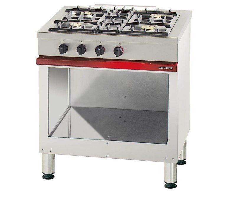 Bartscher 4-burner stove with open base series Embassy