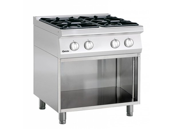 Bartscher 4-burner stove with open base Series 700