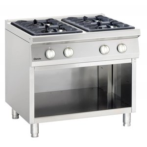 Bartscher 4-burner stove with open base Series 900