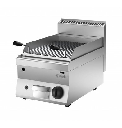 Bartscher Lava Rock Grill Gas RVS - Tabletop - with the grill pan - 40x65x (h) 29.5cm - 7KW