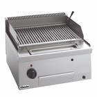 Bartscher Lava Rock Grill Gas RVS - Tabletop - with Adjustable Wire grill - 60x60x (h) 29cm - 7.3KW