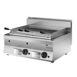 Bartscher Lavasteingrill Gas RVS - Tabletop - mit Griddle - 80x65x (h) 29.5cm - 14KW