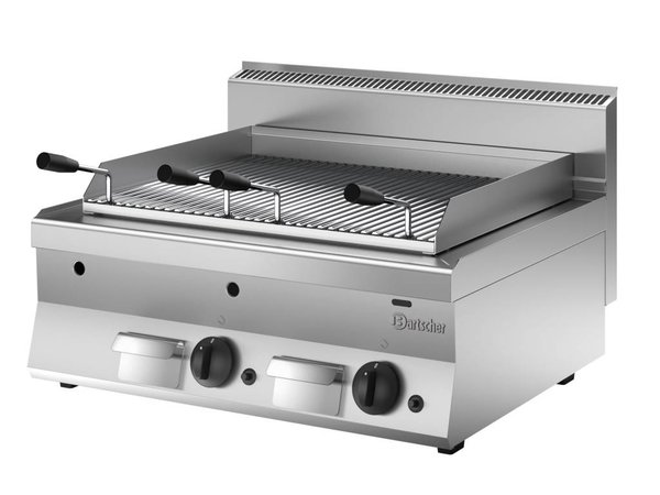 Bartscher Lava Rock Grill Gas RVS - Tabletop - with Griddle - 80x65x (h) 29.5cm - 14KW