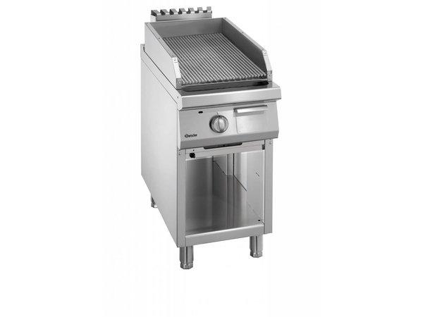 Bartscher Gas Lavastein Grill - Open Unterbau - mit Griddle - 45x90x (h) 85 / 90cm - 11KW