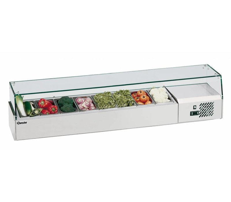 Bartscher Refrigerated Counter with Glass Top - 4x or 8x GN 1/2 1 / 4GN - 33,5x (H) 42.5 cm