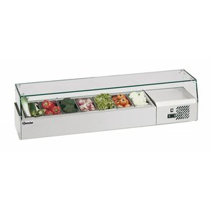 Bartscher Refrigerated Counter 7 x 1/4 GN, 150 mm - 150x33,5x (H) 42.5 cm
