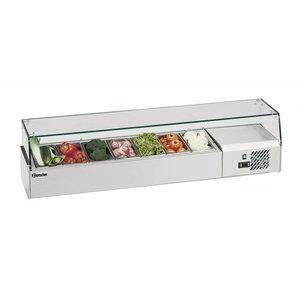 Bartscher Refrigerated Counter 7 x 1/4 GN, 150 mm - 150x33,5x (H) 42.5 cm