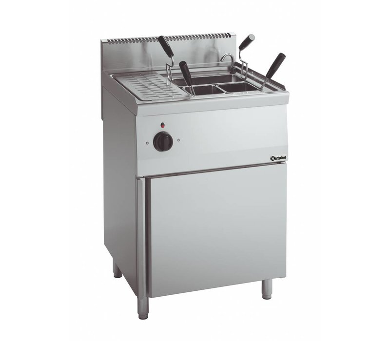 Bartscher Elektro-Nudelkocher Serie 600 | 400V | 5,5kW | 26 Liter | 600x600x (H) 900mm