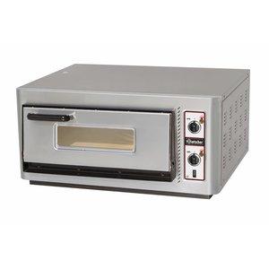 Bartscher Pizzaofen Elektro Single | 4 Pizzen Ø30cm | 400V | 5kW | 910x810x (H) 440mm