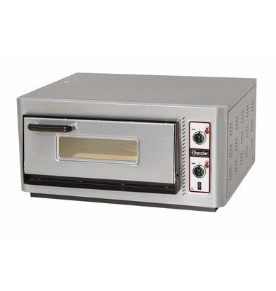 Bartscher Pizza Oven Enkel Elektrisch | 4 Pizza's Ø30cm | 400V | 5kW | 910x810x(H)440mm