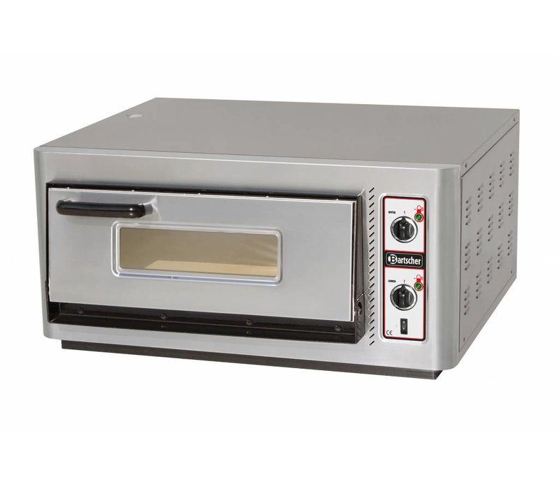 Bartscher Pizza Oven Electric Single | 4 pizzas Ø30cm | 400V | 5kW | 910x810x (H) 440mm