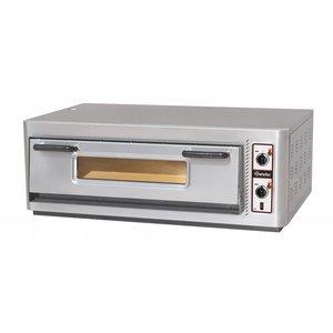 Bartscher Pizza Oven Enkel Elektrisch | 6 Pizza's 30cm | 400V | 6kW | 1210x830x(H)435mm