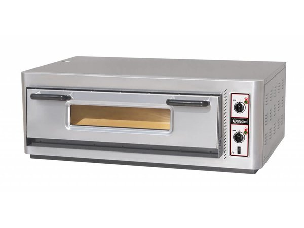 Bartscher Pizza Oven Electric Single | 6 Pizzas 30cm | 400V | 6kW | 1210x830x (H) 435mm
