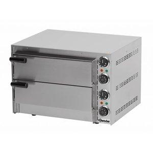 Bartscher Pizzaoven Dubbel Elektrisch   2 x Pizza Ø35cm   2,7kW   545x500x(H)380mm
