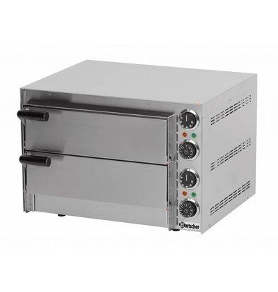 Bartscher Pizzaoven Dubbel Elektrisch | 2 x Pizza Ø35cm | 2,7kW | 545x500x(H)380mm