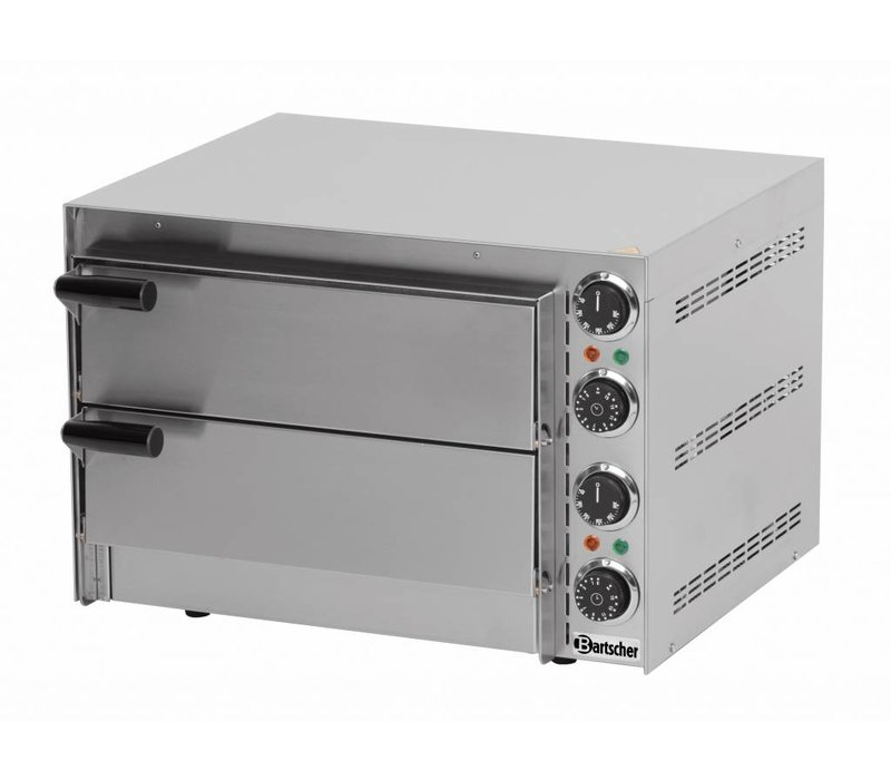 Bartscher Pizza Oven Double Electric | 2 x Pizza Ø35cm | 2,7kW | 545x500x (H) 380mm