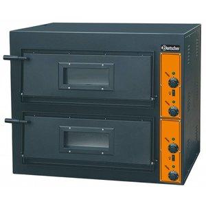 Bartscher Pizza Oven Dubbel Elektrisch   2 x 4 Pizza's Ø30cm   380V   8,4kW   890x880x(H)750mm