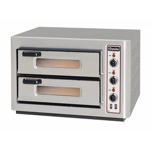 Bartscher Pizza-Ofen Doppel Electric | 2x4 Pizzen Ø25cm | 400V | 6kW | 800x735x (H) 520mm