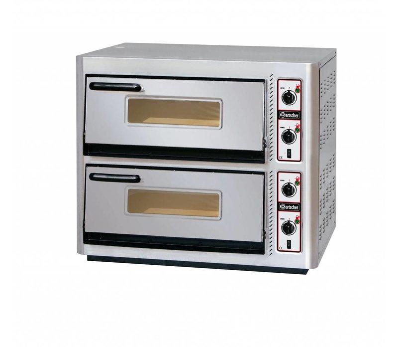 Bartscher Pizza-Ofen Doppel Electric | 2 x 4 Pizzen Ø30cm | 400V | 10kW | 910x810x (H) 770mm