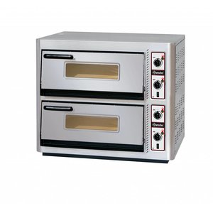 Bartscher Pizza Oven Double Electric | 2 x 4 pizzas Ø30cm | 400V | 11,2kW | 910x810x (H) 770mm