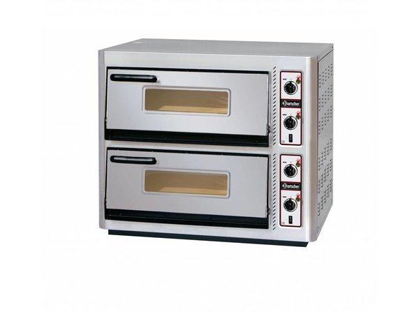 Bartscher Pizza-Ofen Doppel Electric | 2 x 4 Pizzen Ø30cm | 400V | 11,2kW | 910x810x (H) 770mm
