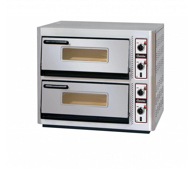 Bartscher Pizzaoven Dubbel Elektrisch | 2 x 4 Pizza's Ø30cm | 400V | 11,2kW | 910x810x(H)770mm