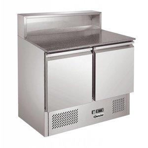 Bartscher Pizzawerkbank - RVS - 2 deurs - 90x70x(h)108cm - met 5x 1/6 GN