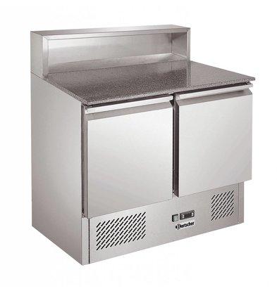 Bartscher Pizza Workbench - RVS - zwei Türen - 90x70x (h) 108cm - 5x 1/6 GN