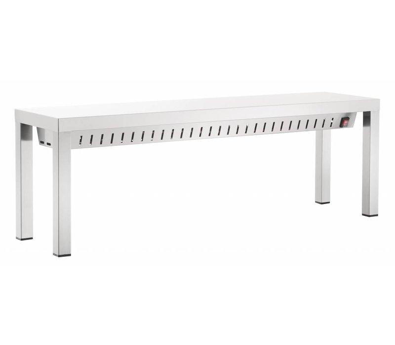 Bartscher Heat bridge - stainless steel - 1.05 kW - 2000x300x (H) 400 mm
