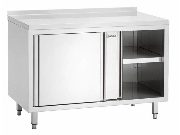 Bartscher Werkkast met Schuifdeuren en Tussenschap | 1500x700x(h)850mm