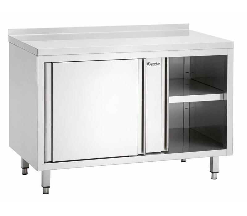 Bartscher Cupboard with sliding doors and intermediate shelf | 1500x700x (H) 850mm