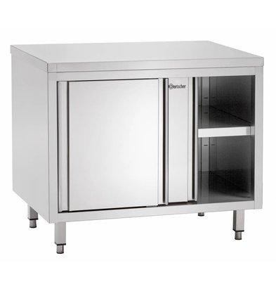 Bartscher Stainless Steel Cupboard with Sliding doors + s Board | 1000x700x (H) 850mm