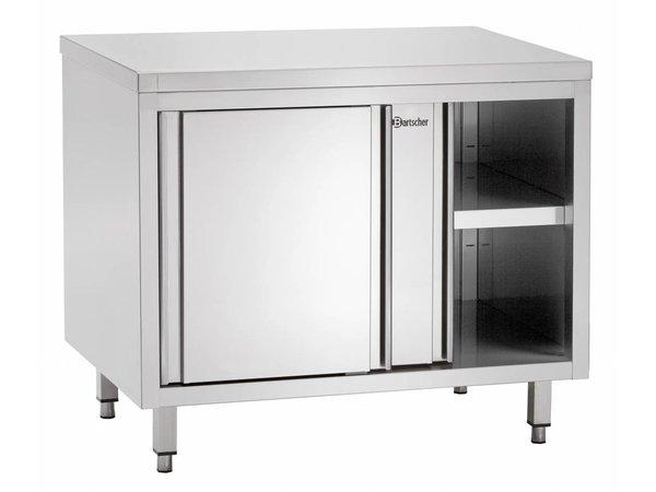 Bartscher Stainless Steel Cupboard with Sliding doors + s Board   1800x700x (H) 850mm