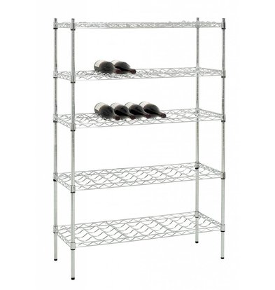 Bartscher Basic Wine Rack - Chrome - 900x350x1390 mm