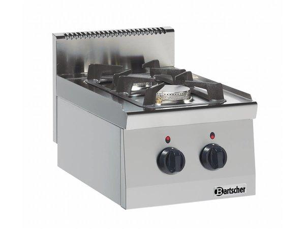 Bartscher 2-Flammen-Gasherd Serie 600 | 3,5kW - 6 KW | 400x600x (H) 290mm