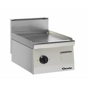Bartscher Electric griddle - smooth - 40x60x (h) 29cm - 3,6kW