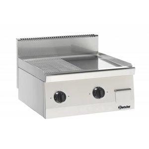 Bartscher Elektrische grillplaat - Geribd/Glad - 60x60x(h)29cm - 400V/7,2kW